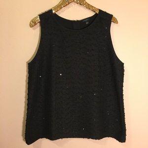 Ann Taylor | Sequin knit sleeveless top | Women's